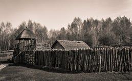中世纪木城堡 免版税库存图片