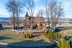 中世纪木教会在Debno,波兰 图库摄影