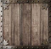 中世纪木背景 库存图片