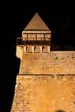 中世纪本营在伊维萨岛在夜之前 库存图片