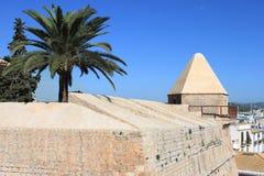 中世纪本营在Ibiza 库存图片