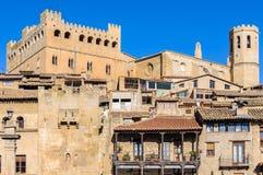 中世纪村庄在巴尔德罗夫雷斯,西班牙 免版税库存图片