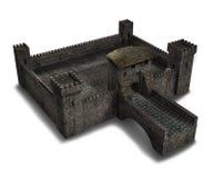 中世纪村庄城堡 库存例证