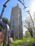 中世纪村庄教会在英国 库存图片