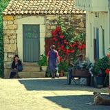 中世纪村庄Idanha-a-Velha,葡萄牙 库存图片