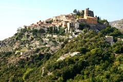 中世纪村庄La Turbie在法国 库存图片