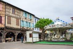中世纪村庄Mirepoix 免版税图库摄影