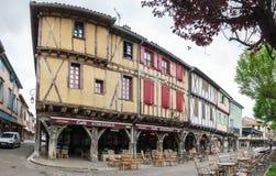 中世纪村庄Mirepoix 免版税库存图片