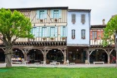 中世纪村庄Mirepoix 图库摄影