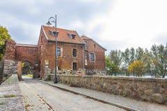 中世纪条顿人城堡在什图姆,波兰 免版税库存照片