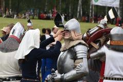 中世纪格伦瓦德之战的分级法从1410 免版税库存照片