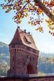 中世纪桥梁门 免版税库存图片