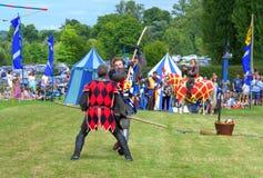 中世纪棍子战斗 免版税库存图片