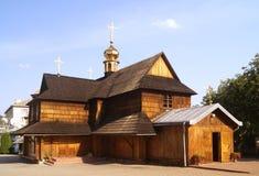 中世纪正统木教会 库存照片