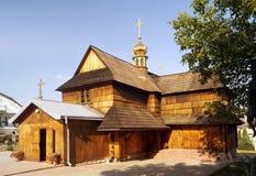 中世纪正统木教会 免版税库存图片