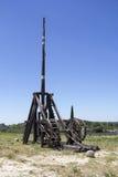 中世纪武器Trebuchet 免版税库存图片