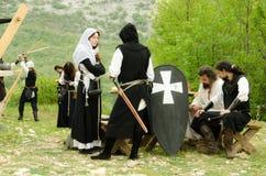 中世纪比赛 库存照片
