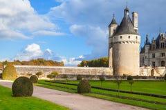 中世纪法国城堡在卢瓦尔河流域,法国 免版税库存图片