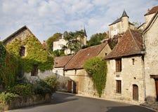 中世纪法国村庄街道 库存图片
