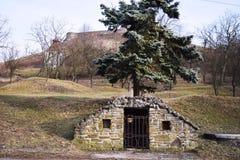 中世纪深井为饮用水,老井 库存照片