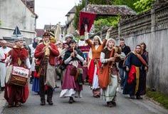 中世纪游行 免版税库存图片