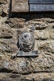 中世纪火险房子匾 库存图片
