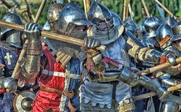 中世纪的争斗 库存图片