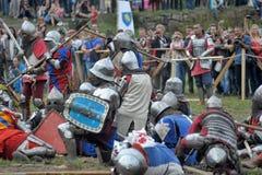 中世纪的争斗 免版税库存照片