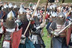 中世纪的争斗 免版税图库摄影