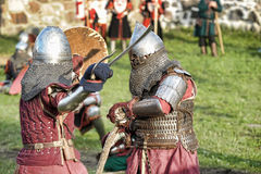 中世纪的争斗 库存照片