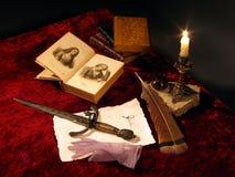 中世纪的匕首 库存图片