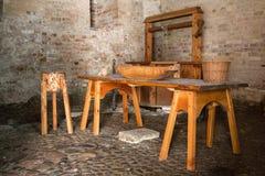 中世纪的厨房 库存图片