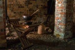中世纪的厨房 免版税图库摄影