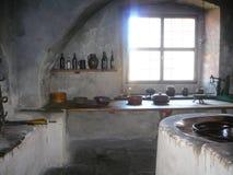 中世纪的厨房 免版税库存图片