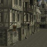 中世纪的城市 库存图片