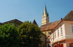 中世纪的城镇 免版税库存照片