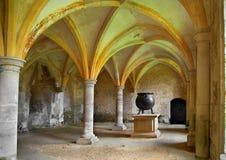 中世纪的大锅 免版税库存照片