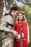 中世纪的夫妇 免版税库存图片