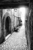 中世纪的小村庄 库存照片