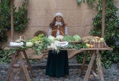 中世纪的市场 库存照片