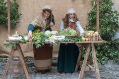 中世纪的市场 免版税图库摄影