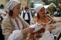 中世纪的市场 免版税库存照片
