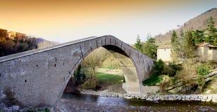 中世纪的桥梁 免版税图库摄影