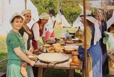 中世纪的烹调 库存图片
