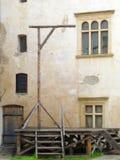 中世纪的绞架 免版税库存图片