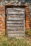 中世纪的门 免版税库存照片