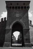 中世纪的门 免版税库存图片