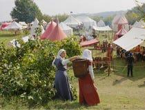 中世纪的阵营 免版税库存照片