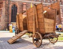 中世纪的购物车 库存照片