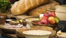 中世纪的宴餐 免版税库存图片